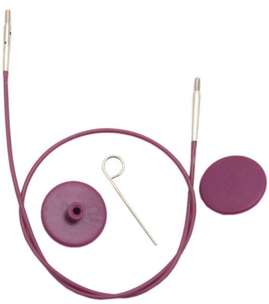 10561 Кабель фиолетовый 280 mm для создания круговых спиц длиной 50 cm KnitPro