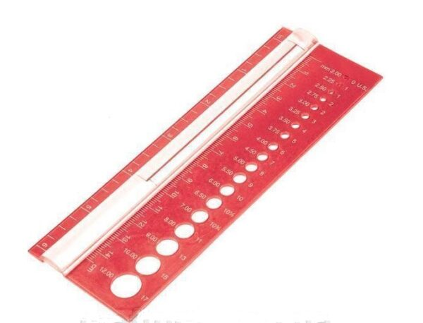 10701 Шкала размеров для спиц KnitPro