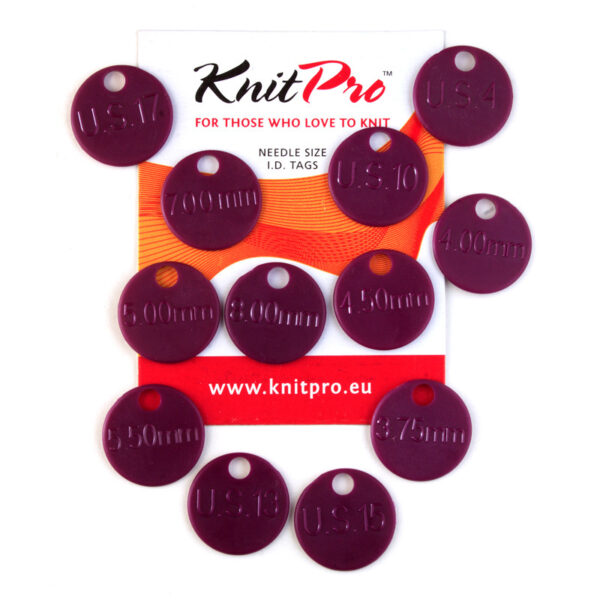 10702 Маркеры размеров для спиц (набор из 12 шт)KnitPro