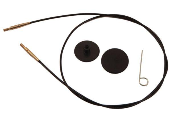 10532 Леска черная с позолотой 35см для создания круговых спиц длиной 60см KnitPro