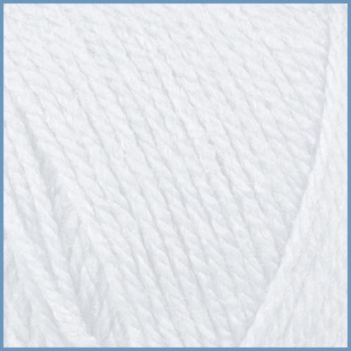 Пряжа для вязания Valencia Bambino, 0601 (white) цвет, 94% акрил, 6% вискоза