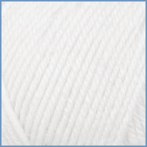 Пряжа для вязания Valencia Jasmin, 0601 (white) цвет, 50% шерсть, 50% акрил