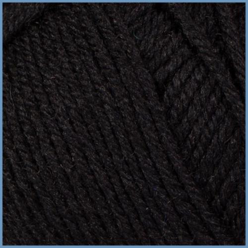 Пряжа для вязания Valencia Jasmin, 620 (Black) цвет, 50% шерсть, 50% акрил