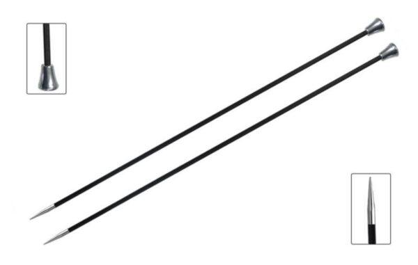 Спицы прямые 25 см Karbonz KnitPro