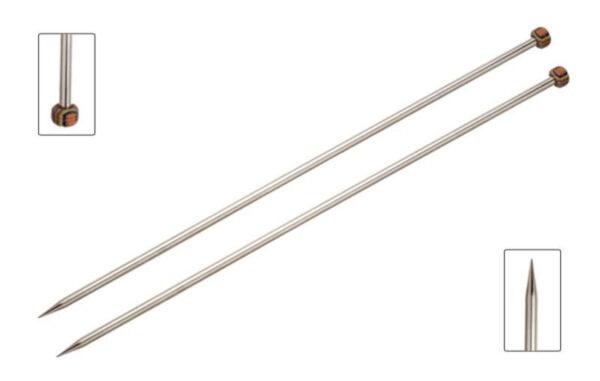 Спицы прямые 25 см Nova Metal KnitPro