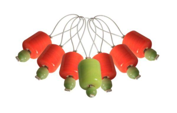 10931 Маркеры петель (7 шт) ZOONI Orange Lily KnitPro
