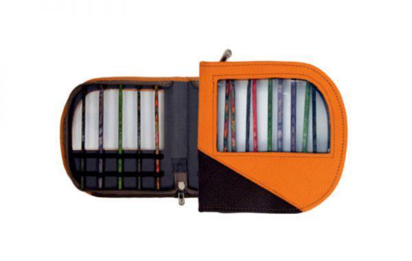 10824 Чехол для крючков оранжево-черный KnitPro