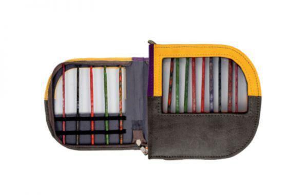 10849 Чехол для крючков фиолетово-черно-оранжевый KnitPro