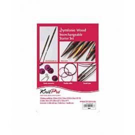 20604 Набор деревянных съемных спиц для начинающих  Symfonie  Wood  KnitPro