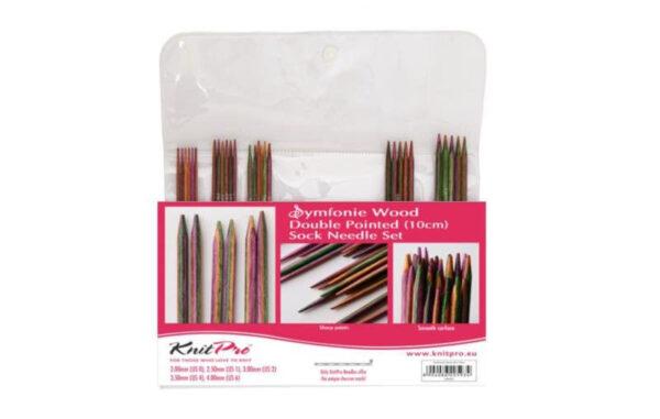 20650 Набор деревянных носочных спиц 10 см Symfonie Wood KnitPro