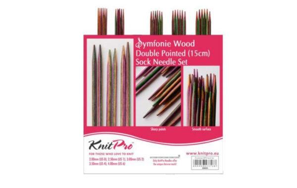 20651 Набор деревянных носочных спиц 15 см Symfonie Wood KnitPro