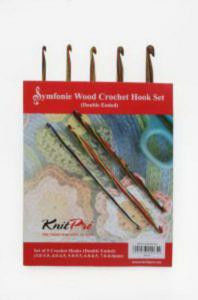 20730 Набор деревянных двухсторонних крючков для вязания Symfonie  Wood  KnitPro