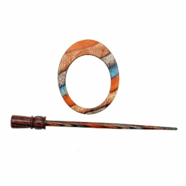 Зажим для шали с заколкой 20873 Omega Symfonie Azure Charm Shawl Pins with Stick KnitPro