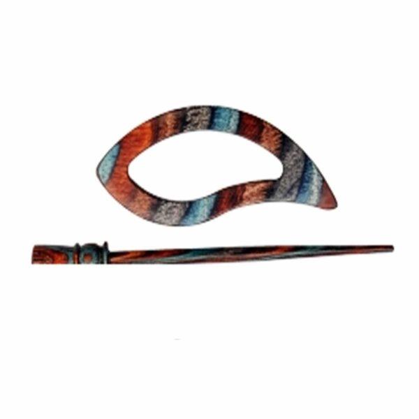 Зажим для шали с заколкой 20874 Carina Symfonie Azure Charm Shawl Pins with Stick KnitPro