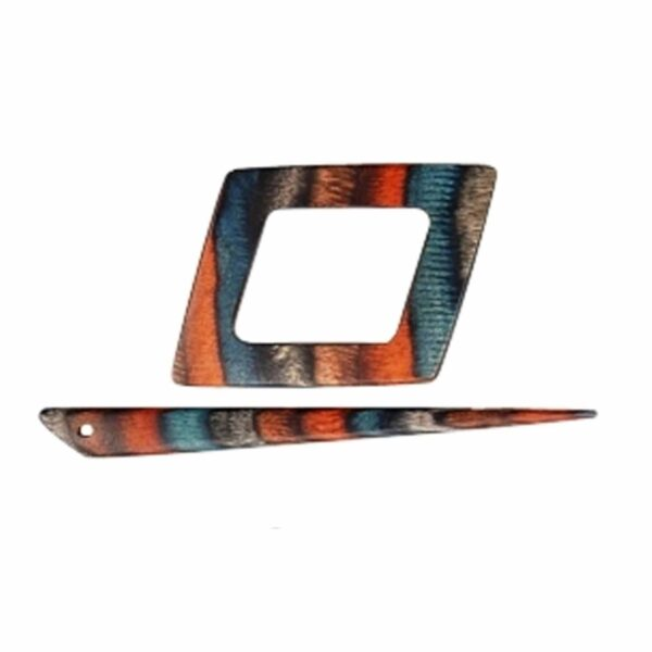 Зажим для шали с заколкой 20875 Alpha Symfonie Azure Charm Shawl Pins with Stick KnitPro