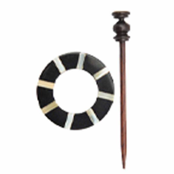 Зажим для шали с заколкой 20882 Dittany (KP006) Shawl Pins with Sticks Exotica Series KnitPro