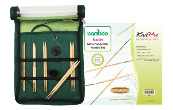 22541 Набор съёмных спиц для начинающих Bamboo KnitPro