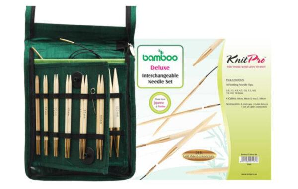 22542 Набор съёмных спиц Deluxe Bamboo KnitPro