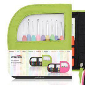 30921 Набор крючков в зеленом чехле KnitPro