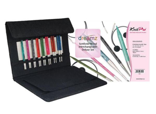90614 Набор съемных деревянных спиц Deluxe в подарочной коробке Dreamz KnitPro
