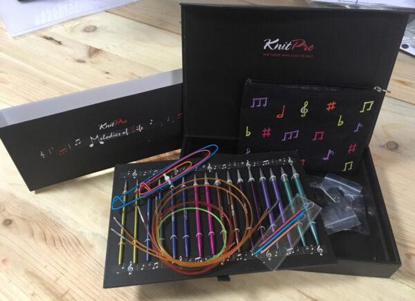 47411 Подарочный набор съемных круговых спиц Melodies of Life Zing KnitPro