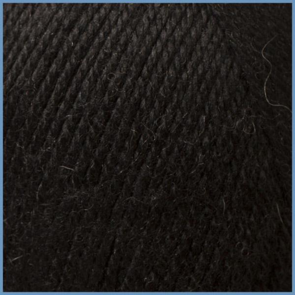 Пряжа для вязания Valencia Gaudi, 620 (Black) цвет, 12% шерсть перуанской ламы, 88% премиум акрил