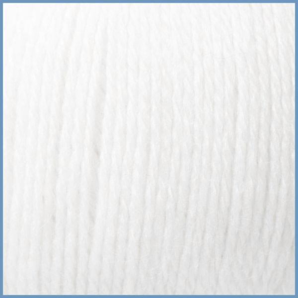 Пряжа для вязания Valencia La Costa, 0601 (White) цвет, 12% кид мохер (шерсть ягненка), 3% шелк, 42% шерсть, 43% акрил