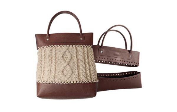 12016 Заготовка для изготовления сумки из искусственной кожи KnitPro (коричневая)