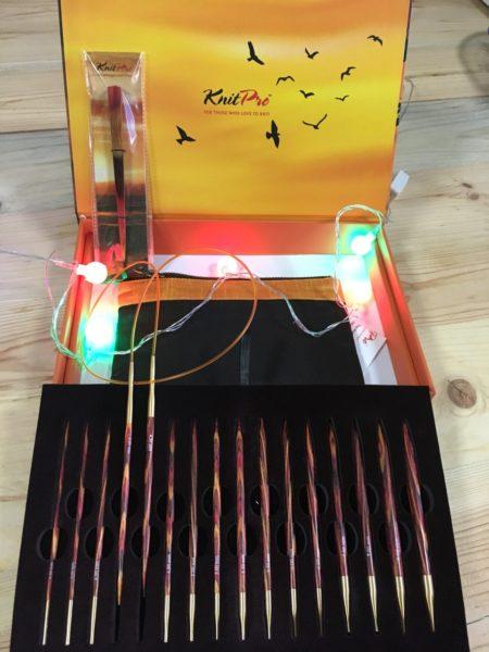 Подарочный набор съемных круговых спиц KnitPro «The Golden Light» 20635