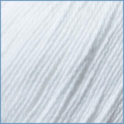 Пряжа для вязания Valencia Baby Cotton, 001 цвет, 100% органический хлопок