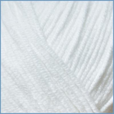 Пряжа для вязания Valencia Santana, 001 цвет, 50% хлопок, 50% высокообъемный акрил