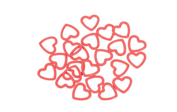 45515 Металлические маркера Amour (набор 40шт- сердечки) KnitPro