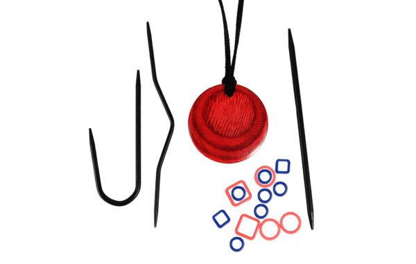 35016 Вязальные магнитные ожерелья (Cherry Berry) KnitPro
