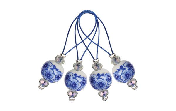 11256 Маркеры петель  ZOONI Blooming Blue KnitPro