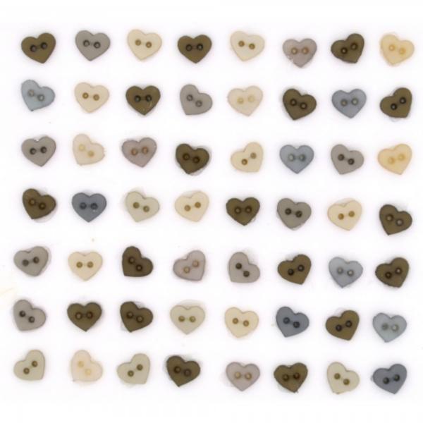 8321 Декоративные пуговицы. Винтажные мини-сердца | Dress it up США