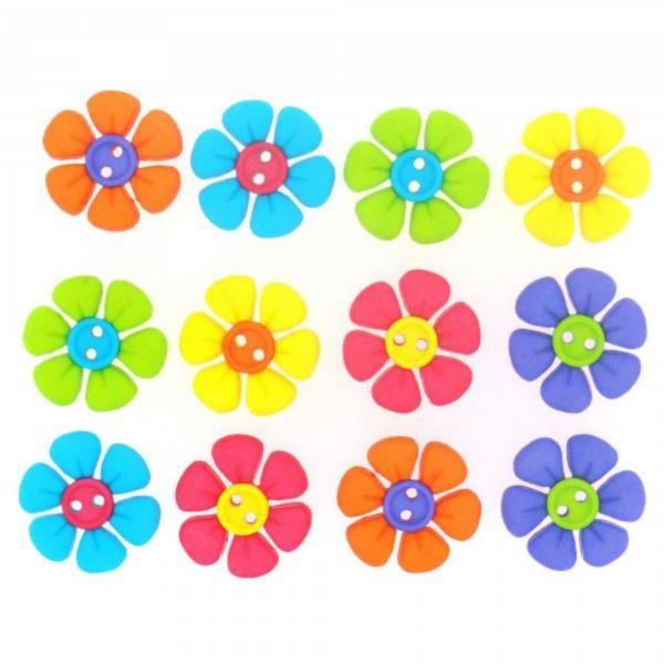 7691 Декоративные пуговицы. Разноцветные цветы | Dress it up США