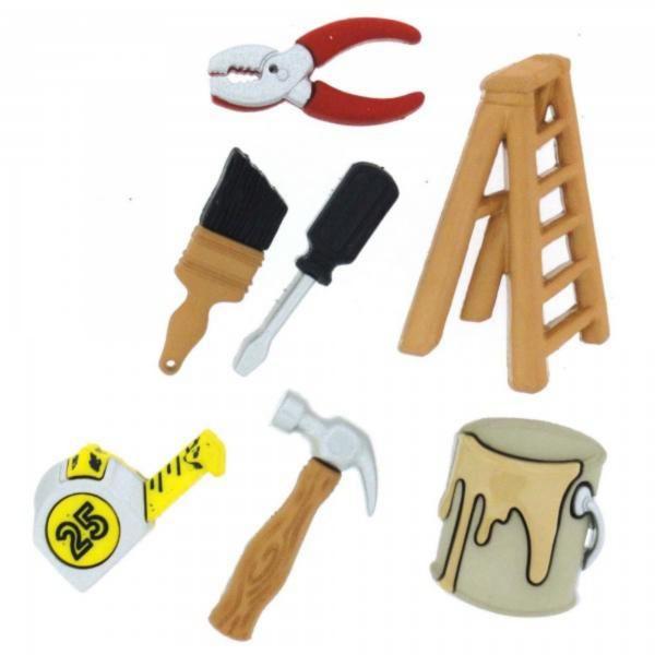 6965 Декоративные пуговицы. Строительные инструменты | Dress it up США