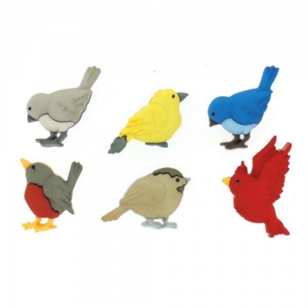 6956 Декоративные пуговицы. Птички | Dress it up США