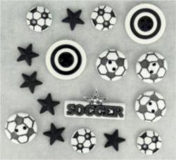 418 Декоративные пуговицы. Футбол | Dress it up США