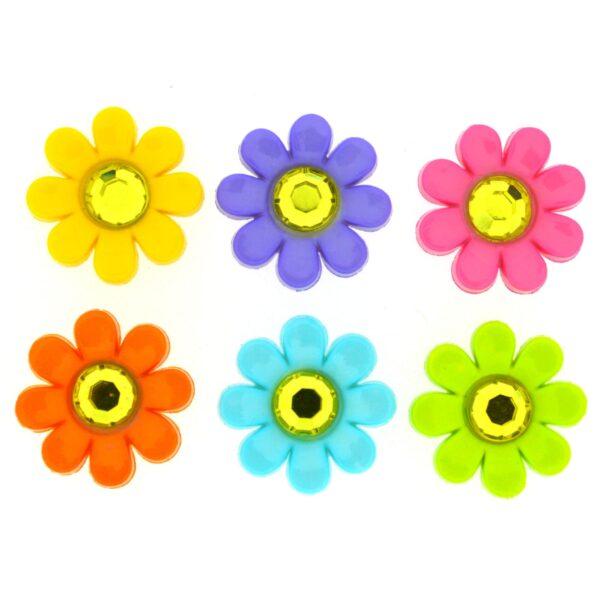 7813 Декоративные пуговицы. Цветы со стразами | Dress it up США