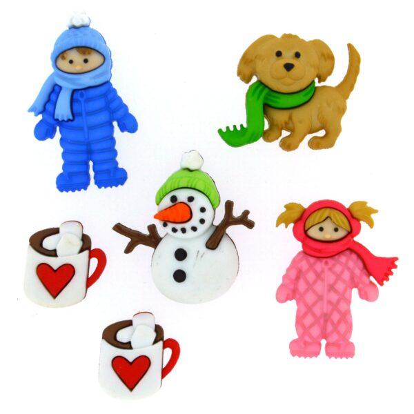 8312 Декоративные пуговицы. Веселье в снегу | Dress it up США