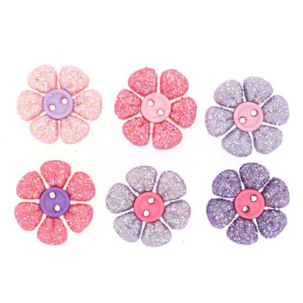 8826 Декоративные пуговицы. Блестящие цветочки   Dress it up США