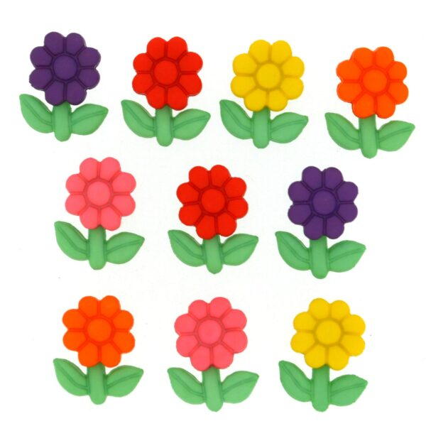 8985 Декоративные пуговицы. Маленькие цветы   Dress it up США