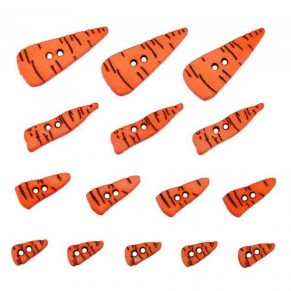 4683 Декоративные пуговицы. Морковки | Dress it up США