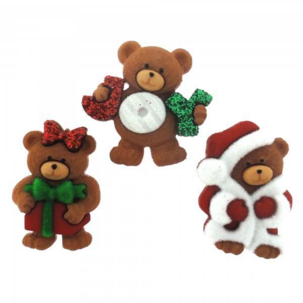 7497 Декоративные пуговицы. Рождественские мишки   Dress it up США