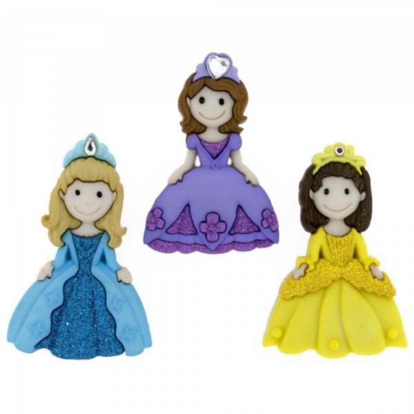 7708 Декоративные пуговицы. Принцессы  | Dress it up США