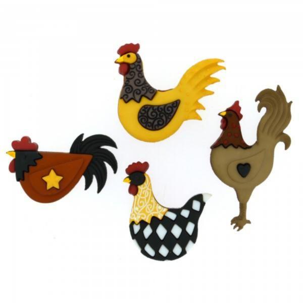 8295 Декоративные пуговицы. Курицы | Dress it up США