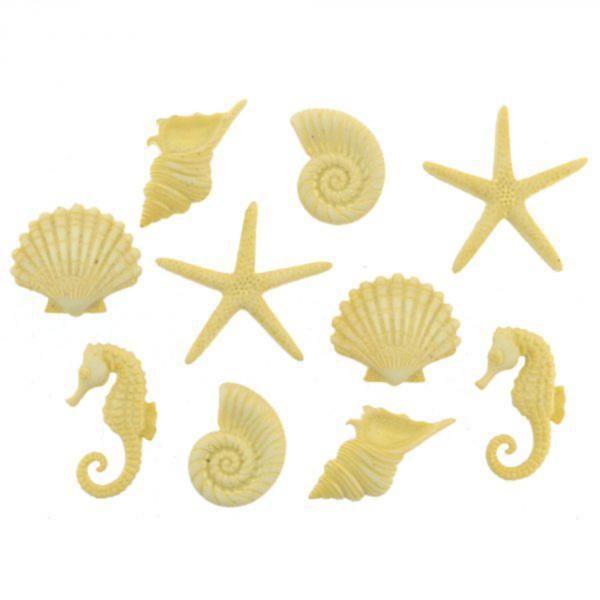 9364 Декоративные пуговицы. Морские фигурки  | Dress it up США