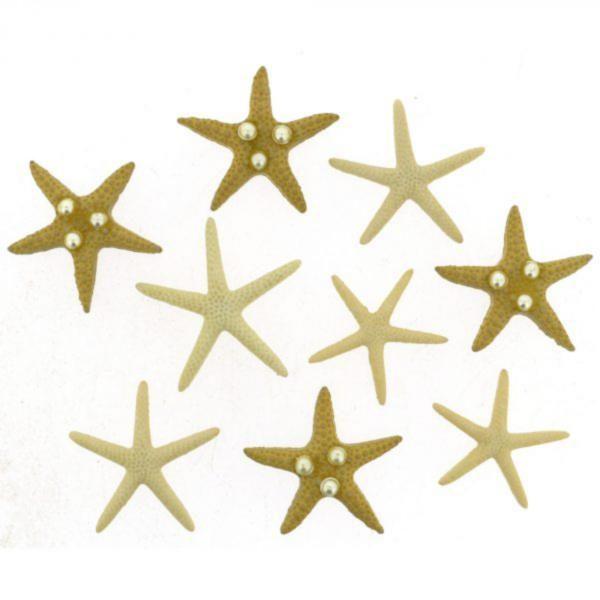9365 Декоративные пуговицы. Морские звёзды | Dress it up США