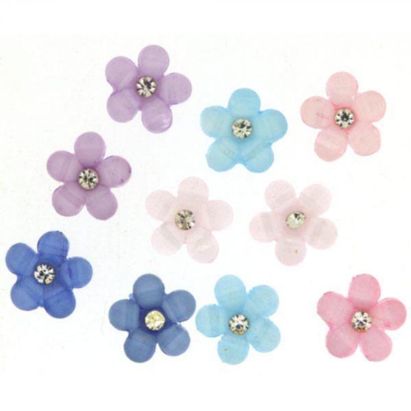 9380 Декоративные пуговицы. Цветы со стразами | Dress it up США